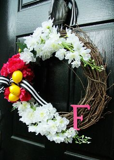 Summer Wreath www.charmingincharlotte.com