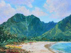 Saturday, Hanalei Bay |  by Betty Hay Freeland #BettyHayFreeland #Oil #CedarStreetGalleries