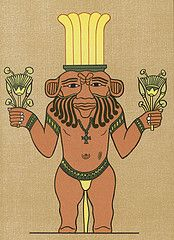 "Bes originated in the Sudan and is represented as a grotesque, bearded dwarf with a crown and a sword. Bes, was also a primary god of women in labor and a protector of the home, but it was his fondness for beer that established a spiritual association for brewing second only to that of the goddess Hathor. According to Ian Spencer Hornsey's A History of Beer and Brewing, ""Bes was very fond of drinking beer and is often represented on scarabs as sucking beer through a straw from a large…"