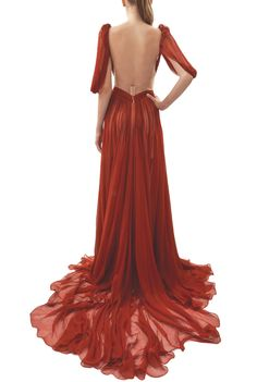 Maria Lucia Hohan - Silk | COLETTE gown  Love the flow of the train