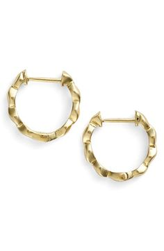 Women's Bony Levy 14k Gold Twist Small Hoop Earrings - Yellow Gold (Limited Edition) (Nordstrom Exclusive)