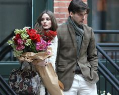 Put the flowers down, and no one gets hurt. I love that bouquet!