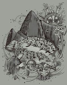 Machu picchu. Katari arts. Viking Symbols, Mayan Symbols, Egyptian Symbols, Viking Runes, Ancient Symbols, American Indian Tattoos, American Art, American History, Native American