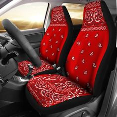 Red Bandana Car Seat Covers (Set of 2 ) – Creations Hut