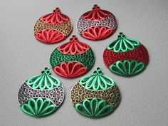 Quilling Christmas Ornament Choice of Color by BarbarasBeautys