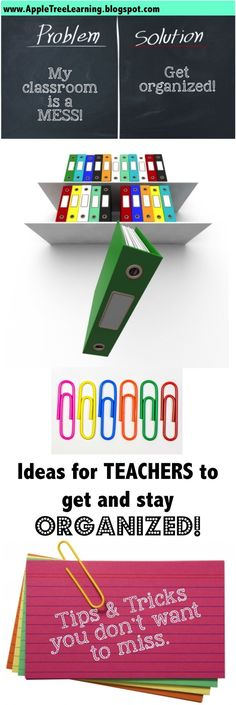 Lots of tips, tricks and ideas for getting and keeping your classroom organized. #organize #classroom
