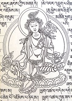 Green Tara by the master of Tibetan arts Sherab Palden Beru.