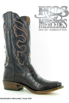 Luxury #Wedding #Boots for Cowboys! Rios of Mercedes Men's Chocolate Belly Crocodile Cowboy Boots