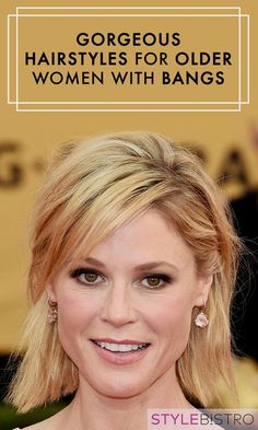 Beauty Tips Whether you're looking to play up your fringe with loose waves or a choppy pixie, stars like Robin Wright, Angela Bassett, and more have you covered. - Because you can look glam at any age. Older Women Hairstyles, Pretty Hairstyles, Hairstyle Ideas, Style Hairstyle, Decent Hairstyle, Natural Hairstyles, Party Hairstyle, Medium Hairstyle, Bridal Hairstyle