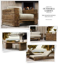 Restoration Hardware Homepage. This website has pretty much everything! Love!