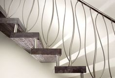 Stainless steel railing / with bars / indoor / for stairs - DECOR - Marretti
