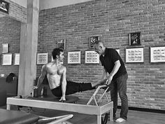 Murat Berkin and Jay Grimes demonstrate Pilates for men. http://overfiftyandfit.com/health-protocols/ #pilates #mobility #menshealth #over50 #longevity #protocols #healthyliving