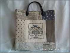 Great bag finish using Blackbird Designs Eleanor Rigby chart from their Magical Mystery Tour Series.