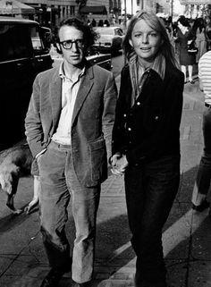Diane Keaton & Woody Allen, c. 1970s.