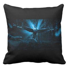 Night Eagle Throw Pillow #halloween #Custom #throwpillows #pillow