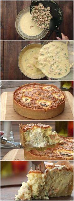 TORTA CREMOSA DE CAMARÃO, UMA VERDADEIRA TENTAÇÃO! (veja a receita passo a passo) #torta #camarão #tortadecamarão #tortacremosa