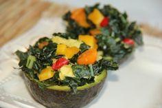 Kale stuffed avacados