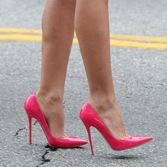 Audrina Patridge's pink pumps (Jimmy Choo) neon pink.well these are just amaze Rosa High Heels, Pink High Heels, Platform High Heels, High Heels Stilettos, High Heel Boots, Stiletto Heels, Pink Pumps, Pink Shoes, High Heels Plateau