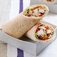 No-Cook Asian Chicken Wraps - great for lunch or a picnic!