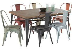 Spring Street Metal 5 Pc Dining Set with Black Chairs. $499.99.  Find affordable Dining Room Sets for your home that will complement the rest of your furniture.