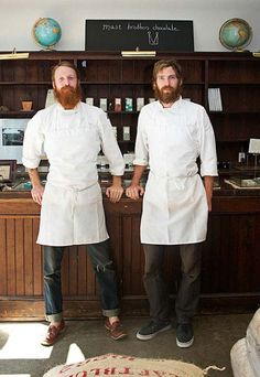 These guys look like my bearded chef man! [the mast brothers]