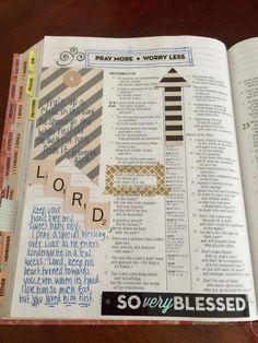 Bible Journaling & washi tape