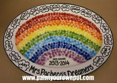 """Rainbow fingerprints. 2014. A great gift for the teacher who's always saying, """"Stop day dreaming and get to work!"""""""