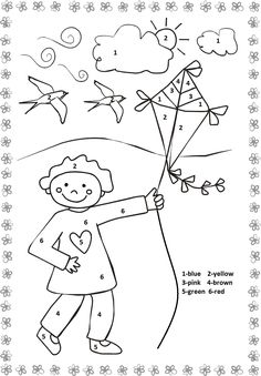 1000 Images About March Preschool Weather St Patrick S Color By Number One Marching With Picture