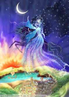 The Star goddess represents the universe (God) in all its mystery and…