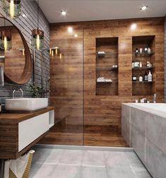 21 Modern And Stylish Bathroom Design Ideas Contemporary Bathroom Designs, Bathroom Design Luxury, Modern Bathroom Design, Home Interior Design, Bedroom Modern, Kitchen Interior, Dream Bathrooms, Amazing Bathrooms, Small Bathroom
