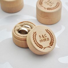 Ring Box Personalized Engraved Engagement Wedding Wooden Jewelry Cute Love Gift #RingBoxChina