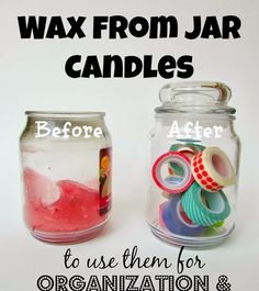 How to clean wax from jar candles