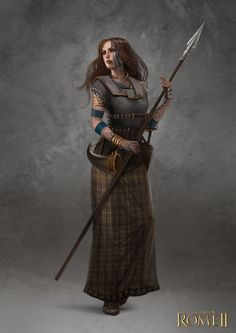 Total War: Rome II - Inceni Female Champion by telthona on deviantART