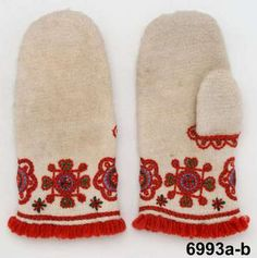 Sorundavantar -  Nalbound mittens from Sorunda, Sweden