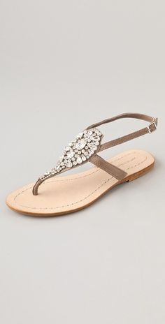Our cermony is on grass, so heels are a no-no. These Antik Batik jeweled flat sandals are still dressy enough for this formal occasion. It'll be hard for me not to wear these before the big day!
