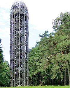 rozhledna u obce Heřmanice na Liberecku Lookout Tower, European Countries, Czech Republic, Empire State Building, Skyscraper, Travel, Bohemia, House, Skyscrapers