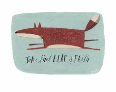 Einer meiner Lieblings-Charaktere, der Fuchs.    Nehmen Sie den Sprung des Glaubens  A5-original-Farbe  Acryl sehr dicken Lappen Aquarellpapier