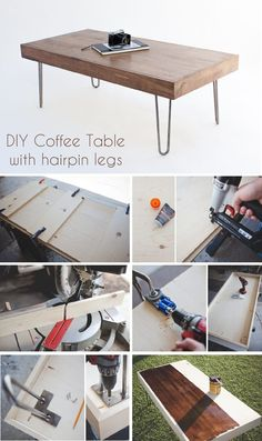 DIY Coffee Table with Hairpin Legs   eHow Home   eHow