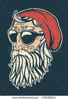 Find Trendy Hipster Santa Claus Vector Illustration stock images in HD and millions of other royalty-free stock photos, illustrations and vectors in the Shutterstock collection. Hipster Illustration, Illustration Art, Santa Claus Vector, Beard Art, Hipster Art, Christmas Illustration, Funny Art, Geometric Art, Rock Art