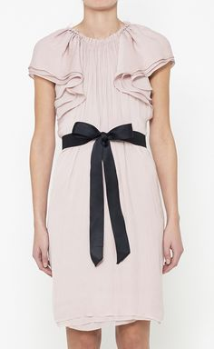 LANVIN Pink And Black Dress
