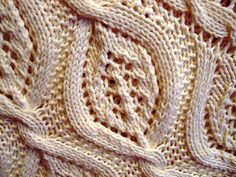 Lovely Lace and Cable Stitch. Plus free baby blanket pattern: Serenity