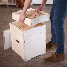 Art and Craft Storage Boxes Craft Storage Box, Arts And Crafts Storage, Arts And Crafts Furniture, Wooden Storage Boxes, Storage Shelves, Crafts For Seniors, Crafts For Kids To Make, Hero Crafts, Plywood Boxes