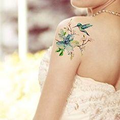 Humming Bird and flower tattoo | Tattoos | Hummingbird ...