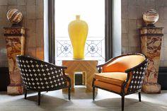 Lorenzo Castillo...classic shapes, oversized items, color...fantastic!