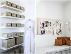 I want a studio space that organized #box #white #bright