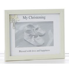 Christening Photo Frame Christening Photos, Our Love, Blessed, Home And Garden, Frame, Happy, Home Decor, Gift, Picture Frame