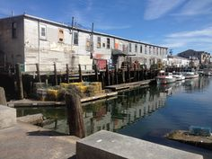 Back side of the fish wharf in Portland, Maine