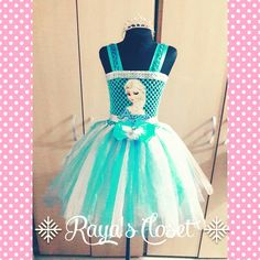 My tutu creation..Frozen inspired. #rayascloset
