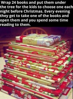 This is such a great idea for the nights leading up to Christmas!