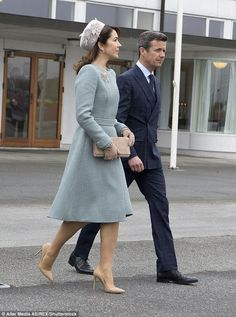 Crown Princess Mary and Crown Prince Frederik made an entrance in their fashionable outfit...
